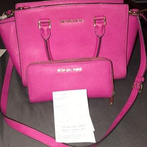 Authentic MK pink satchel